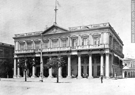 Government Palace, 1910 - Photos of Old Montevideo (2) - Department and city of Montevideo - URUGUAY. Image #59801