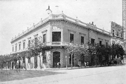 Archbishop's Palace. 1909 - Photos of Old Montevideo (2) - Department and city of Montevideo - URUGUAY. Image #59800