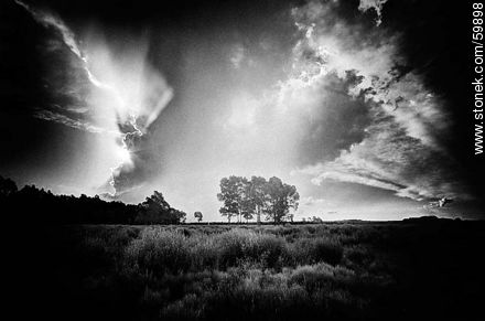Storm on view in the field - Photos in Black and White. - MORE IMAGES. Image #59898