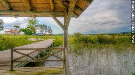 Covered dock on the lake - Photos of Laguna del Sauce - Punta del Este and its near resorts - URUGUAY. Image #59914