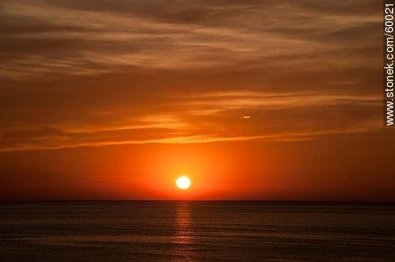 Sunset at sea - Photos of the open sea, URUGUAY. Image #60021