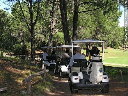 Electric cars to transport golfers - Photos of Laguna del Sauce - Punta del Este and its near resorts - URUGUAY. Image #60179