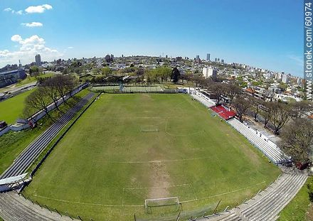 Aerial photo of the stadium Parque Palermo - Photos of Parque Batlle quarter - Department and city of Montevideo - URUGUAY. Image #60974