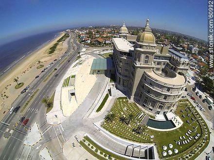 Aerial view of the Hotel Carrasco. Rambla Tomas Berreta - Photos of Carrasco quarter - Department and city of Montevideo - URUGUAY. Image #60992