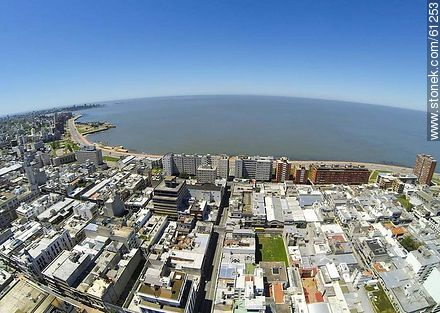 Aerial photo of the Old City. Street Alzaibar - Photos of the Old City - Department and city of Montevideo - URUGUAY. Image #61253