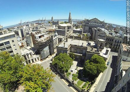 Aerial photo of Taranco Palace - Photos of the Old City - Department and city of Montevideo - URUGUAY. Image #61265
