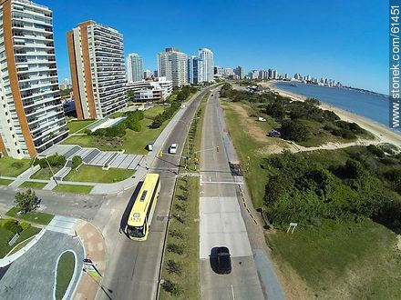 Aerial photo of the Rambla Williman in Playa Mansa - Photos of promenades, URUGUAY. Image #61451