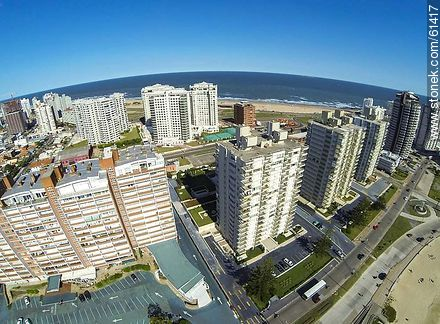 Aerial photo of the Rambla Williman in Playa Mansa - More photos of Punta del Este - Punta del Este and its near resorts - URUGUAY. Image #61417