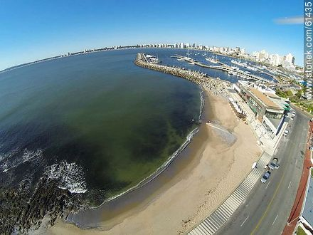 Aerial photo of the little beach of Puerto - Photos of the open sea, URUGUAY. Image #61435