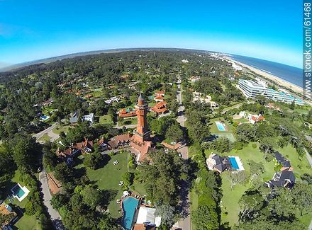 Aerial view or Rincón del Indio - Photos of L'Auberge hotel in Rincon del Indio - Punta del Este and its near resorts - URUGUAY. Image #61468