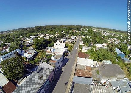Aerial photo of the town of Sauce - Photos of the town of Sauce - Department of Canelones - URUGUAY. Image #61539