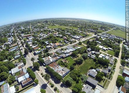 Aerial photo of the city of San Ramon - Fotos of the city of San Ramón - On the Route 6, URUGUAY. Image #61533