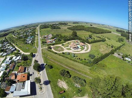 Aerial photo of Route 6 - Fotos of the city of San Ramón - On the Route 6, URUGUAY. Image #61535