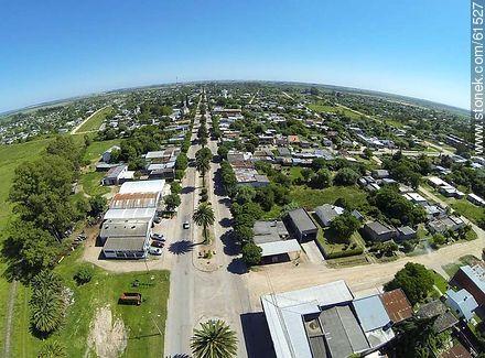 Aerial photo of the Avenida José Batlle y Ordóñez. Route 6. - Fotos of the city of San Ramón - Department of Canelones - URUGUAY. Image #61527