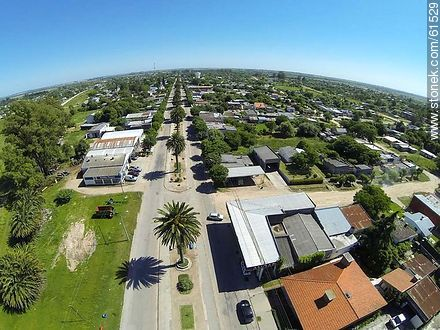 Aerial photo of the Avenida José Batlle y Ordóñez. Route 6. - Fotos of the city of San Ramón - Department of Canelones - URUGUAY. Image #61529