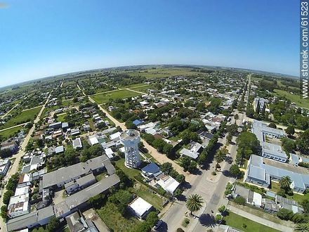 Aerial photo of the city of San Ramon - Fotos of the city of San Ramón - Department of Canelones - URUGUAY. Image #61523