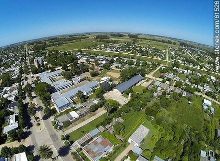 Aerial photo of the city of San Ramon - Fotos of the city of San Ramón - On the Route 6, URUGUAY. Image #61526