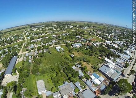 Aerial photo of the city of San Ramon - Fotos of the city of San Ramón - On the Route 6, URUGUAY. Image #61528