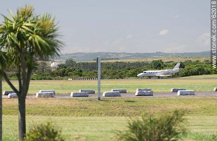 Jet on runway airport Laguna Del Sauce - Photos of Laguna del Sauce, URUGUAY. Image #62018