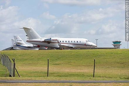 Private jets at the airport in Punta del Este C / C Carlos Curbelo - Photos of Laguna del Sauce, URUGUAY. Image #62013