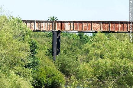 Railway bridge over the Santa Lucia river - Fotos of the city of San Ramón - On the Route 6, URUGUAY. Image #62154