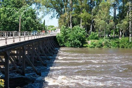 Bridge over the Santa Lucia River. Route 6. - Fotos of the city of San Ramón - On the Route 6, URUGUAY. Image #62151