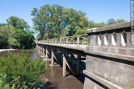 Bridge over the Santa Lucia River. Route 6. - Fotos of the city of San Ramón - On the Route 6, URUGUAY. Image #62148