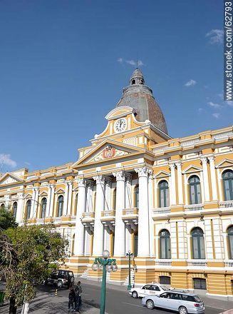 Palacio del Congreso Boliviano. Asamblea Legislativa Plurinacional - Photos of the City  of La Paz - Bolivia - Others in SOUTH AMERICA. Image #62793