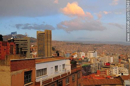 Tower of the Central Bank of Bolivia - Photos of the City  of La Paz - Bolivia - Others in SOUTH AMERICA. Image #62849