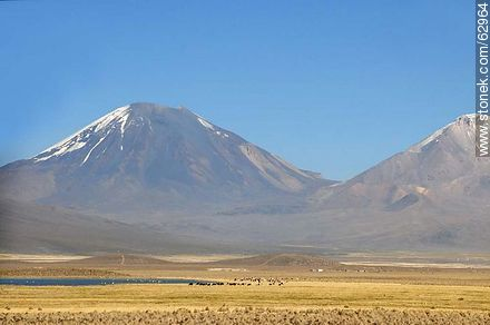 Mountains in the Sajama Park - Photos of Departmant of La Paz - Altiplano, Others in SOUTH AMERICA. Image #62964