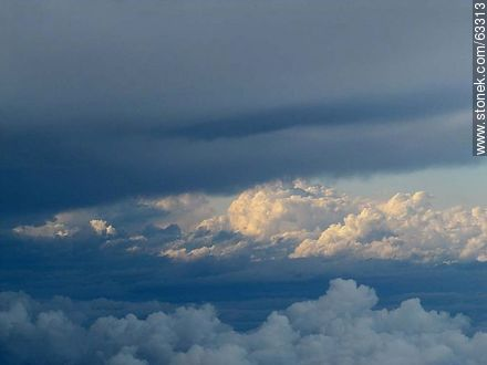 Formation of storm clouds taken from an airplane - Photographic stock - MORE IMAGES. Image #63313