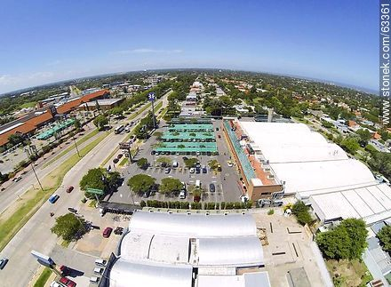 Aerial photo of Tienda Inglesa on Avenida Italia and Avenida Bolivia - Photos of Carrasco quarter - Department and city of Montevideo - URUGUAY. Image #63361