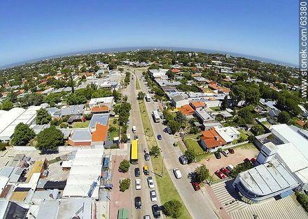 Aerial photo of Avenida Italia and Avenida Bolivia west - Photos of Carrasco quarter - Department and city of Montevideo - URUGUAY. Image #63380