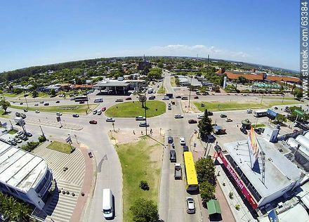 Aerial photo of the intersection of the avenues Italia and Bolivia - Photos of Carrasco quarter, URUGUAY. Image #63384