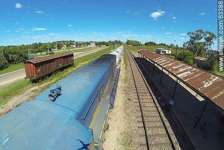 AFE locomotive in Durazno Train Station - Photos of Durazno city - Durazno - URUGUAY. Image #63386