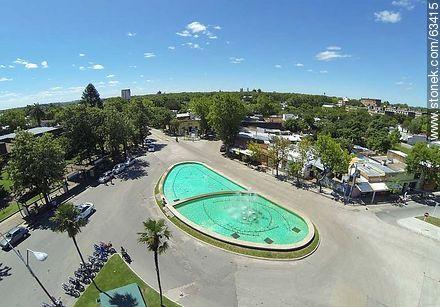 Aerial photo. Fountain in Garibaldi Avenue - Photos of Durazno city - Durazno - URUGUAY. Image #63415