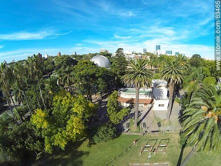 Aerial photo of the administration building - Photos of the Zoo of Villa Dolores - Department and city of Montevideo - URUGUAY. Image #63465