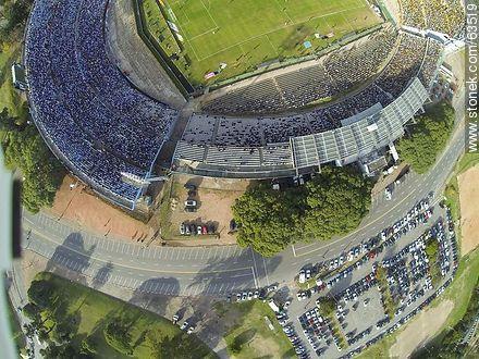 Estadio Centenario. April 27, 2014. Aerial Photo of Colombes and America tribunes. Avenida Ricaldoni - Variety photos of uruguayan footbal soccer - URUGUAY. Image #63519