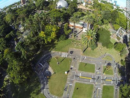 Aerial photo of educational transit area - Photos of the Zoo of Villa Dolores - Department and city of Montevideo - URUGUAY. Image #63565