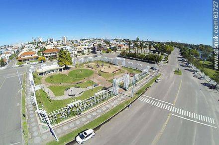 Aerial photo of the Rambla de Mercedes - Photos of the City of Mercedes, URUGUAY. Image #63727