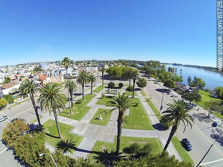 Aerial photo of the Rambla de Mercedes. Río Negro - Photos of the City of Mercedes, URUGUAY. Image #63725