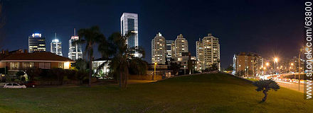 The eight towers of downtown Buceo. Armenia Square and Rambla - Photos of Buceo quarter - Department and city of Montevideo - URUGUAY. Image #63800