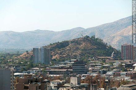 Cerro Blanco from the Cerro Santa Lucia - Photos of Santiago de Chile - Chile - Others in SOUTH AMERICA. Image #64358