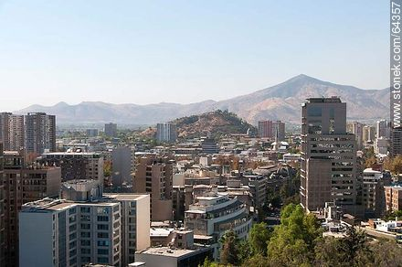 Buildings from the Cerro Santa Lucia - Photos of Santiago de Chile - Chile - Others in SOUTH AMERICA. Image #64357