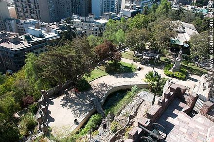 Lowlands of the Cerro Santa Lucia - Photos of Santiago de Chile - Chile - Others in SOUTH AMERICA. Image #64356