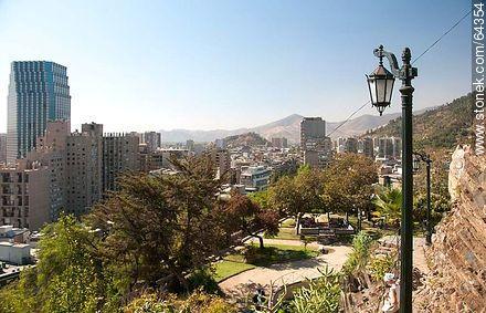 Centenario Building from Cerro Santa Lucia - Photos of Santiago de Chile - Chile - Others in SOUTH AMERICA. Image #64354
