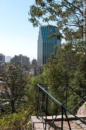 Buildings from the Cerro Santa Lucia - Photos of Santiago de Chile - Chile - Others in SOUTH AMERICA. Image #64352