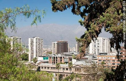 Buildings from the Cerro Santa Lucia - Photos of Santiago de Chile - Chile - Others in SOUTH AMERICA. Image #64374