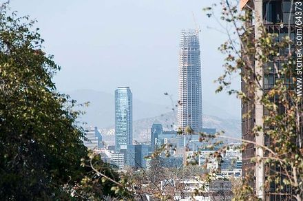 Tall towers from the Cerro Santa Lucia - Photos of Santiago de Chile - Chile - Others in SOUTH AMERICA. Image #64373