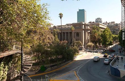 Moneda Street View from the Cerro Santa Lucia - Photos of Santiago de Chile - Chile - Others in SOUTH AMERICA. Image #64366